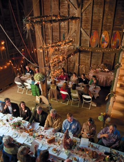 Interior of Barn Dinner and Farm-a-Q