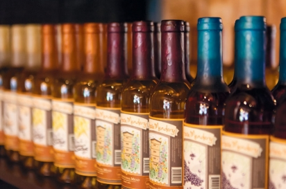 Bottles of Saphouse Meadery's mead