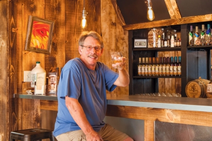 A toast in Saphouse Meadery