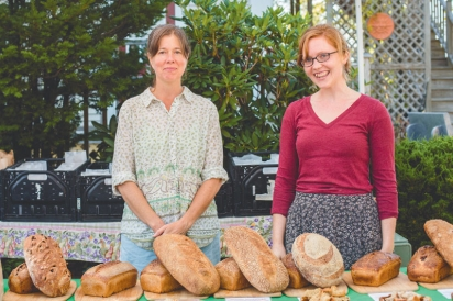 Peg Loughran and Allie Kaplan-Thompson of Sunnyfield Brick Oven Bakery