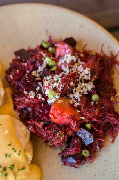 Applecrest Farm Bistro's red flannel hash with beets