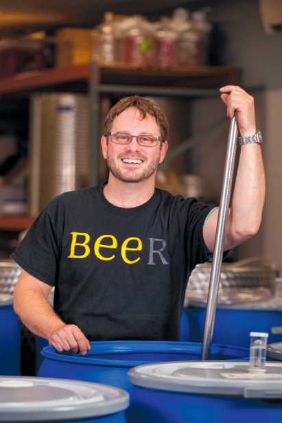 Ash Fischbein, mead-maker and co-owner of Saphouse Meadery
