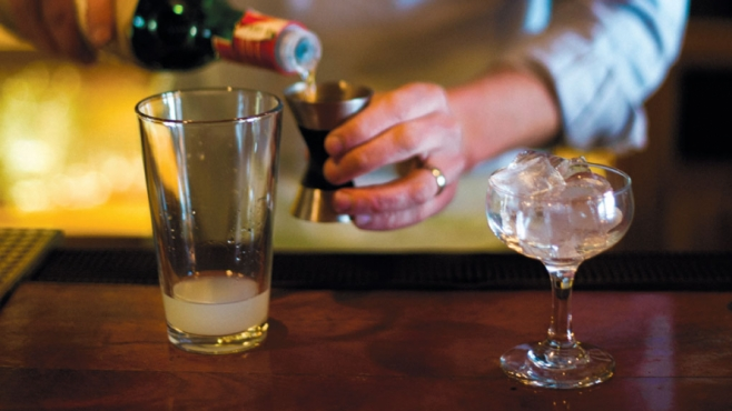 Bartender Pouring Gin