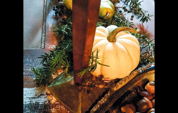 Pumpkin for tablescaping