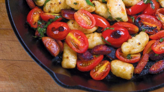 Gnocchi and Tomato Skillet with Sausage