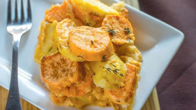 Pumpkin Scalloped Potatoes