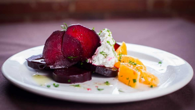 Roasted Beet Salad with Citrus and Ricotta